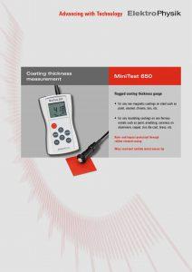 Máy đo bề dày lớp phủ, đo độ dày thành chai ElektroPhysik Germany