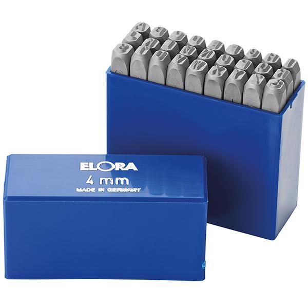 Bộ đục chữ 4mm bằng thép hợp kim Elora 400B-4, made in Germany
