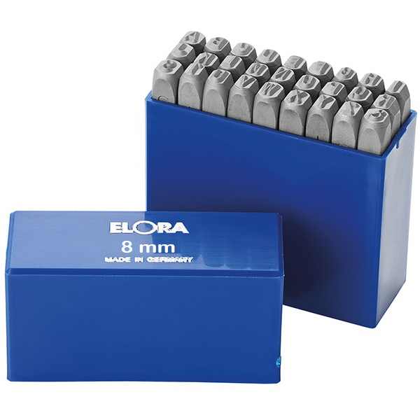 Bộ đục chữ 8mm bằng thép hợp kim Elora 400B-8, made in Germany