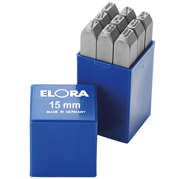 Bộ đục số 15mm Elora 400Z-15, đục số bằng thép hợp kim