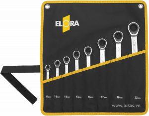 Bộ cờ lê tự động vòng miệng 8 cái 204-S8MT Elora Germany