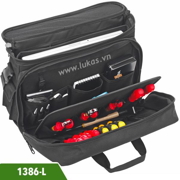 Balo đồ nghề 1386-L Elora Germany, túi dụng cụ cao cấp nhiều ngăn.
