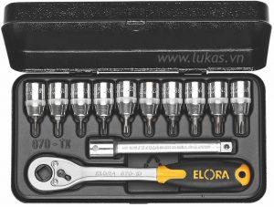 Bộ đầu vít sao 12 chi tiết 870-TTXU Elora Germany