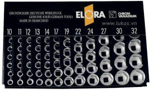 Bộ socket 12 cạnh 97 món 770-LSP2M Elora Germany