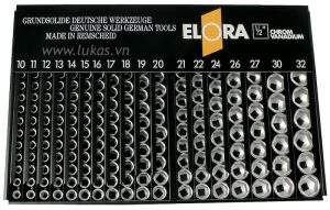 Bộ tuýp 12 cạnh 240 món 770-LSP1M Elora Germany