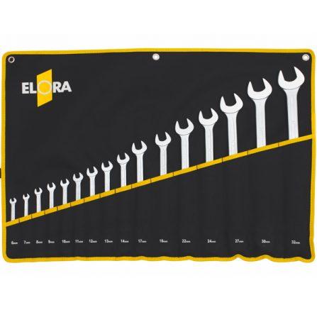 Bộ cờ lê 8 cái từ 8-22mm 205S 8MT vòng miệng Elora Germany