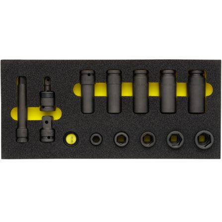 Bộ Impact socket 17 món OMS-24 đầu vuông 1/2 inch Elora Germany