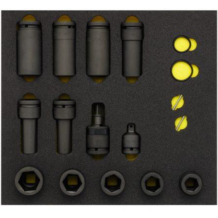 Bộ tuýp đen 17 món OMS-23 đầu vuông 3/4 inch Elora Germany
