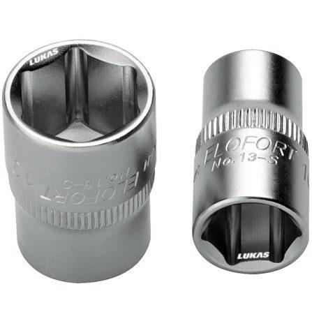 Socket 6 cạnh đầu vuông 1/4 inch 13-S series Elofort Germany.