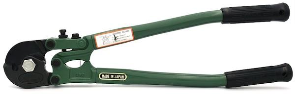 Kìm cắt cáp xoắn mỏ cong MCC, sản xuất tại Nhật. Model WC series.