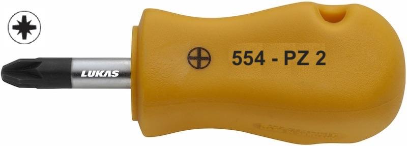 Tuốc nơ vít 8 cạnh loại ngắn 554-PZ Elora Germany.