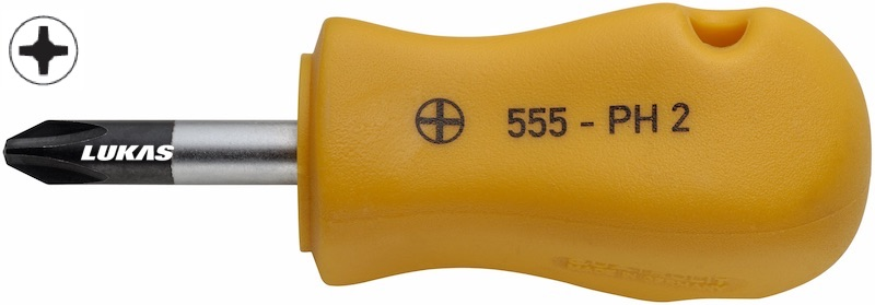 Tua vít 4 cạnh loại ngắn 555-PH Elora Germany.