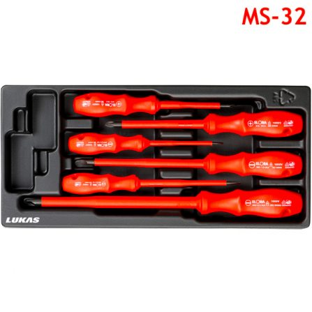 Bộ tua vít cách điện 6 món MS-32 Elora Germany, bake và 2 cạnh.