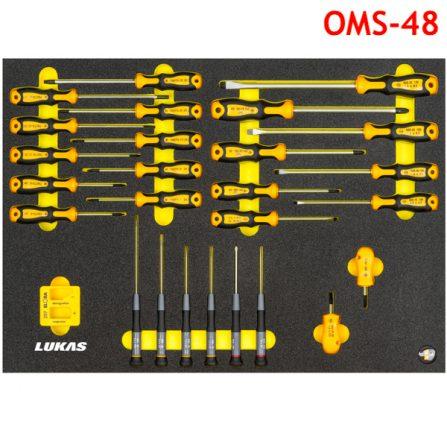 Bộ tua vít đa năng 27 món OMS-48 Elora Germany, kết hợp nhiều kiểu đầu vít.