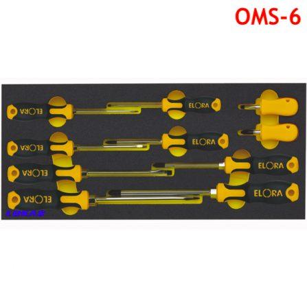 Bộ tuốc nơ vít 10 món OMS-6 Elora Germany. Module tủ dụng cụ.