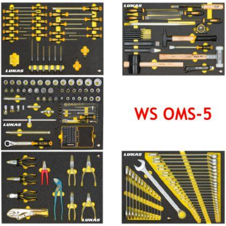 Bộ dụng cụ 217 món WS OMS-5 cho tủ đồ nghề Elora Germany.