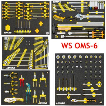 Bộ dụng cụ 176 món WS OMS-6 cho tủ đồ nghề Elora Germany.