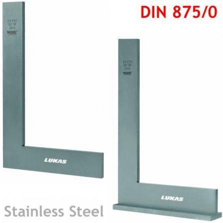 Eke vuông inox DIN 875/0 Vogel Germany, eke đo góc 90 độ.