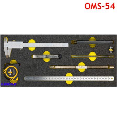 Bộ dụng cụ đo đạc 7 món OMS-54 Elora Germany.