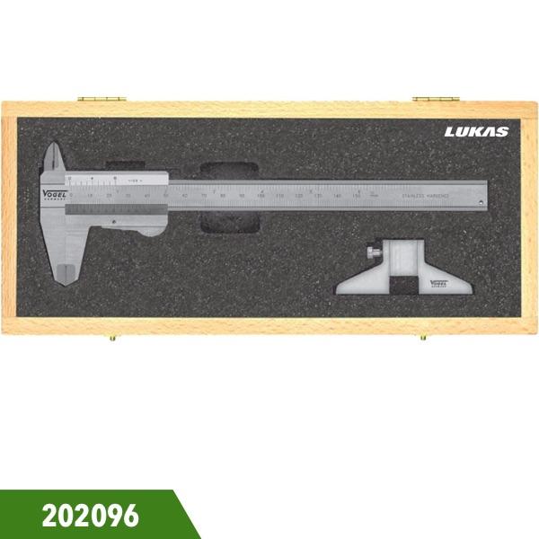 Bộ thước cặp cơ 150mm, dưỡng đo sâu 75mm 202096 Vogel Germany.