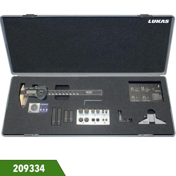 Bộ dưỡng đo 19 món 209334 gồm thước cặp điện tử Vogel Germany.