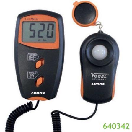 Máy đo cường độ ánh sáng 640342 Vogel Germany từ 1-100,000.0 LUX.
