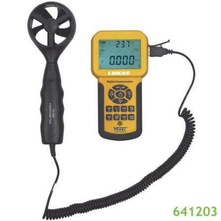 Máy đo tốc độ gió 641203 Vogel Germany từ 0.3 đến 45 m/s.