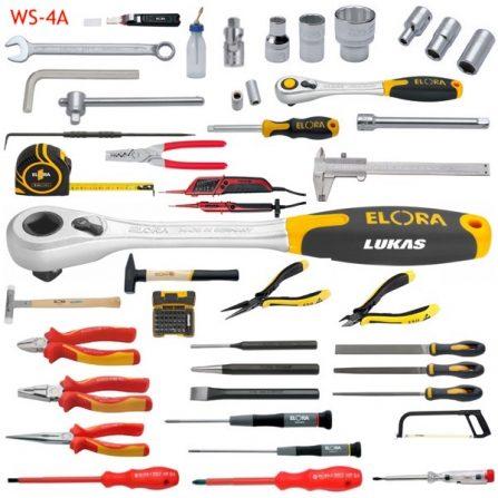 Bộ đồ nghề tiêu chuẩn 128 món WS-4A Elora Germany, hệ inch.
