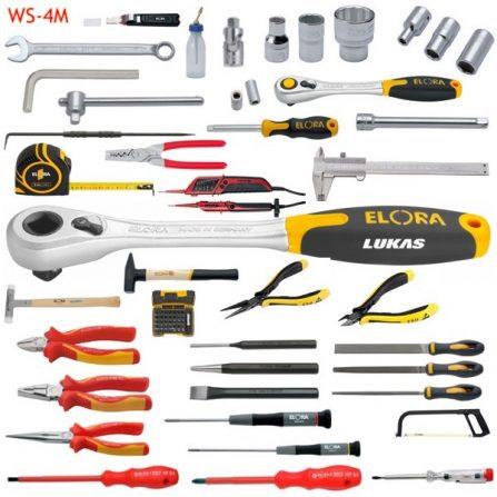 Bộ đồ nghề tiêu chuẩn 131 món WS-4M Elora Germany, hệ mét.