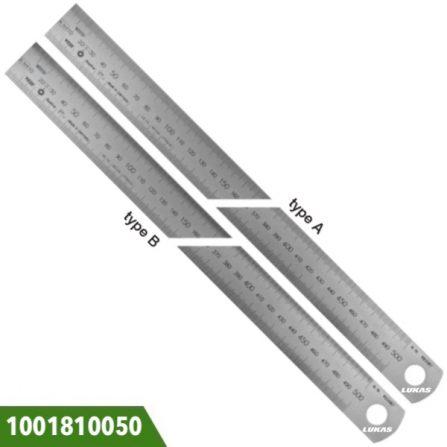 Thước lá inox 500-2000mm Vogel Germany, vạch chia khắc laser.