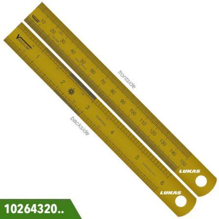 Thước lá inox 150-300mm màu vàng Vogel Germany.