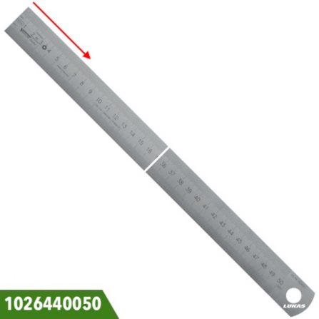 Thước lá inox 500-1000mm khắc vạch chia bằng laser Vogel Germany.