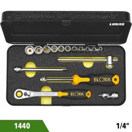 Bộ tuýp 30 và 31 món 1440 series 1/4 inch Elora Germany.