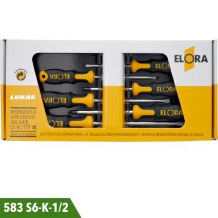 Bộ tuốc nơ vít 6 món 583 S6-K-1 và 583 S6-K-2 Elora Germany.