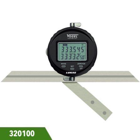 Thước đo góc đa năng 3 lưỡi 320100 Vogel Germany.