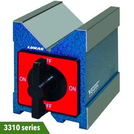 Khối chuẩn V-block 3310 series Vogel Germany, đế có từ tính.