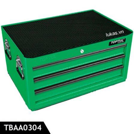 Tủ 3 ngăn kéo TBAA0304 đựng đồ nghề Toptul Taiwan, màu xanh lá.