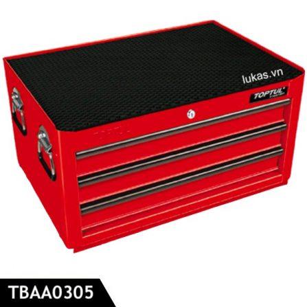 Tủ 3 ngăn TBAA0305 đựng dụng cụ Toptul Taiwan, màu đỏ.