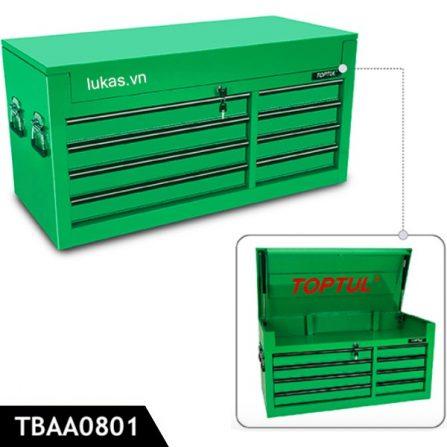 Tủ đồ nghề 8 ngăn TBAA0801 Toptul Taiwan, màu xanh lá.