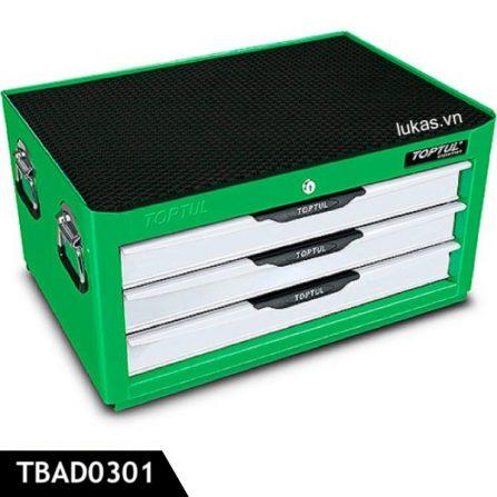 Tủ đồ nghề 3 ngăn TBAD0301 Toptul Taiwan, màu xanh lá.