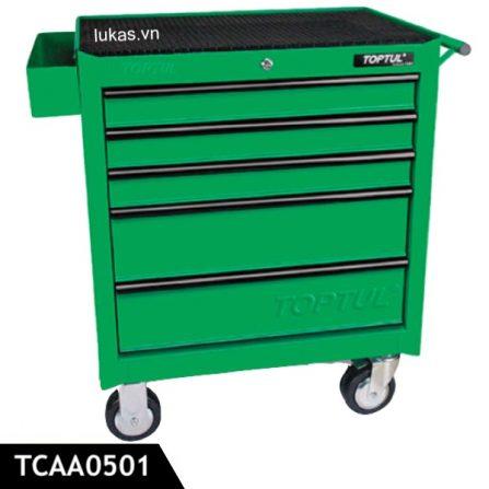 Tủ 5 ngăn đựng đồ nghề TCAA0501 Toptul Taiwan, màu xanh lá.
