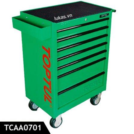 Tủ đồ nghề di động 7 ngăn TCAA0701 Toptul Taiwan, màu xanh lá.