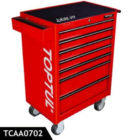 Tủ dụng cụ di động 7 ngăn TCAA0702 Toptul Taiwan, màu đỏ.