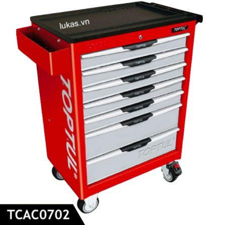 Tủ 7 ngăn di động TCAC0702 Toptul Taiwan, màu đỏ.