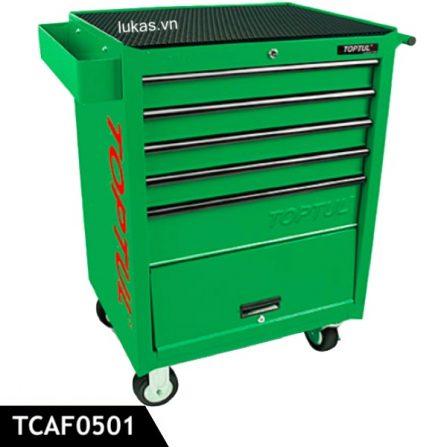 Tủ kéo 5 ngăn đựng đồ nghề TCAF0501 Toptul Taiwan, màu xanh lá.