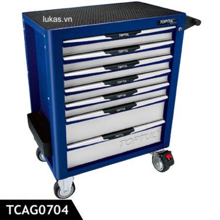 Tủ đồ nghề tải trọng 680kg 7 ngăn TCAG0704 Toptul Taiwan.