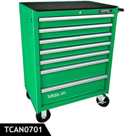 Tủ di động 7 ngăn TCAN0701 Toptul Taiwan, màu xanh lá.
