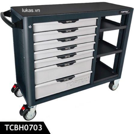 Tủ 7 ngăn kết hợp bàn nguội TCBH0703 Toptul Taiwan.
