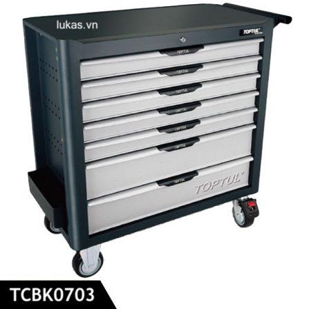 Tủ 7 ngăn đựng dụng cụ TCBK0703 Toptul Taiwan, màu xám.