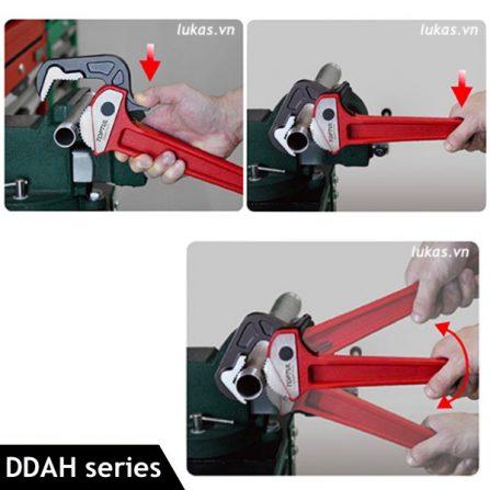 Mỏ lết răng thân gang DDAH series Toptul Taiwan
